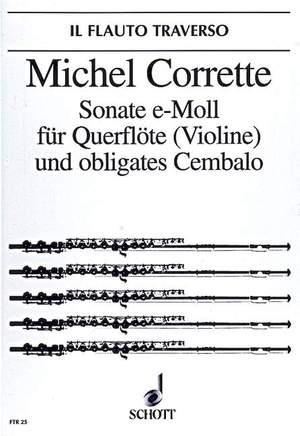 Corrette, M: Sonata E minor op. 25/4