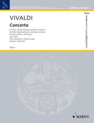 Vivaldi, A: Concerto No. 3 D major op. 10/3 RV 428/PV 155