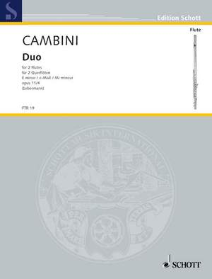 Cambini, G G: Duo E Minor op. 11/4 Product Image