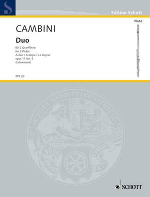 Cambini, G G: Duo A Major op. 11/5 Product Image