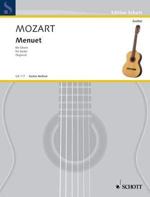 Mozart, W A: Menuet