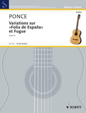 Ponce, M M: Variations sur Folia de España et Fugue Product Image