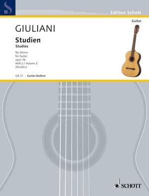 Giuliani, M: Studies for Guitar op. 1b Heft 2