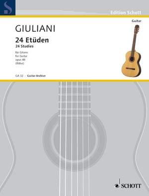 Giuliani, M: 24 Studies op. 48