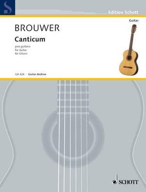 Brouwer, L: Canticum para guitarra