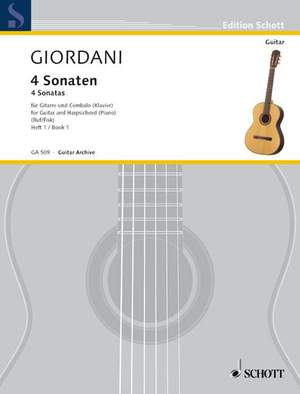 Giordani, T: Four Sonatas Vol. 1