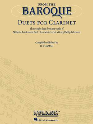 From The Baroque Duets For Clarinet