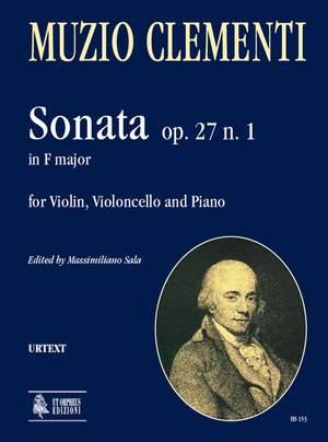 Clementi, M: Sonata in F major op. 27/1