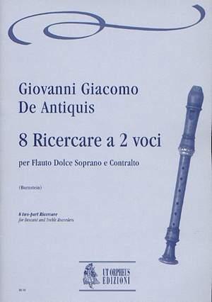 De Antiquis, G G: 8 two-part Ricercare