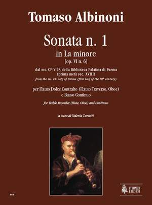 Albinoni, T: Sonata No. 1 in A min from the ms. CF-V-23 of the Biblioteca Palatina in Parma (early 18th century)