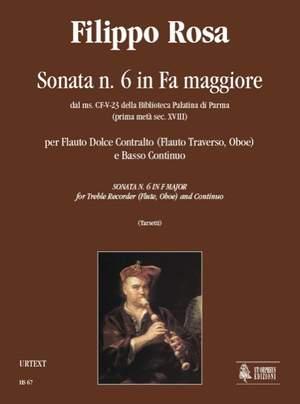 Rosa, F: Sonata No. 6 in F maj from the ms. CF-V-23 of the Biblioteca Palatina in Parma (early 18th century)