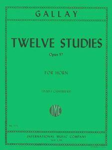 Gallay, J F: 12 Studies Op 57 2ndhn S.hn