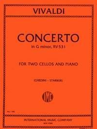 Vivaldi, A: Concerto Gmin Rv 531 2vc Pft