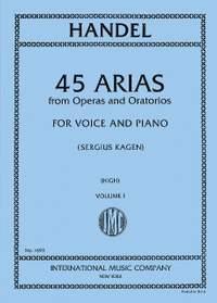 Handel, G F: 45 Arias from Operas and Oratorios, Vol. 1