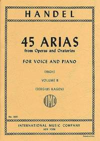 Handel, G F: 45 Arias Ii H.vce Pft