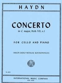 Haydn, J: Concerto Cmaj Vc Pft.red