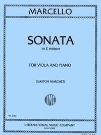 Marcello, B: Sonata E minor