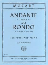 Mozart, W A: Andante Cmaj & Rondo Dmaj Fl P
