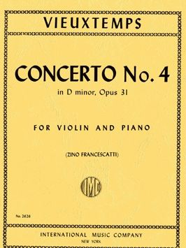 Violin Concerto No.4 Op.31 Henri Vieuxtemps: First Solo Violin//Piano Cather