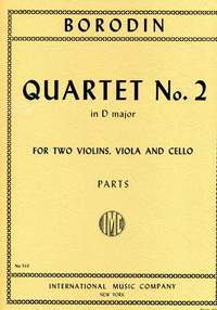 Borodin, A: Quartet No.2 D major, Parts