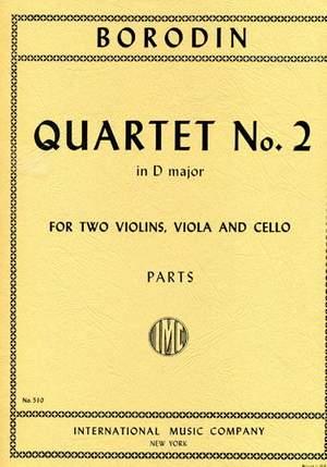 Borodin, A: Quartet No.2 D major, Parts