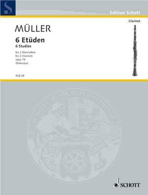 Mueller, I: Six Etudes op. 74