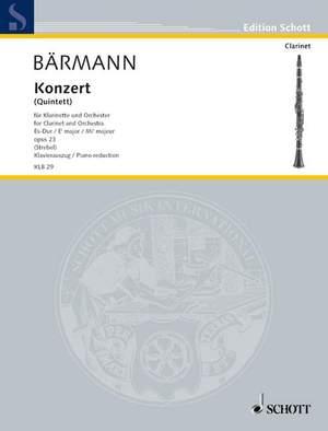 Baermann, H J: Concerto (Quintet) Eb major op. 23 Product Image