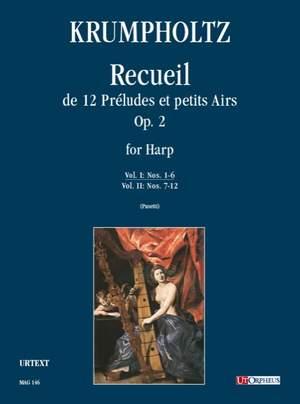 Krumpholtz, J B: Recueil de 12 Préludes et petits Airs op. 2  Vol. 1