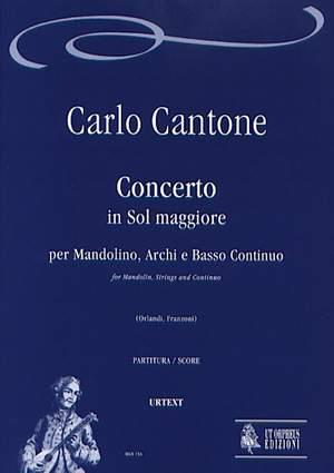 Cantone, C: Concerto in G major