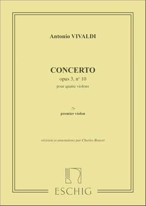 Vivaldi: Concerto FIV/10 (RV580, Op.3/10) in B minor (Eschig)