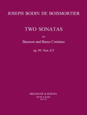 Boismortier, J B d: Sonaten in d-moll und c-moll op. 50/4-5 op. 50/4-5 Product Image
