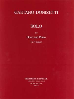 Donizetti, G: Solo in F minor