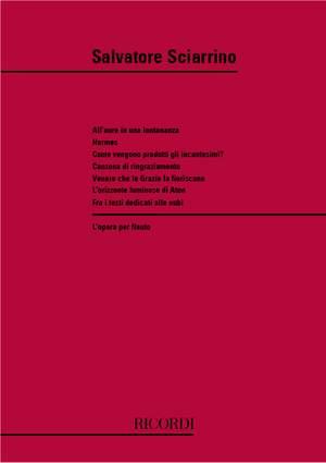 Sciarrino: L'Opera per Flauto Vol.1