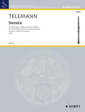 Telemann: Sonata E minor