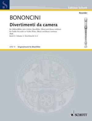 Bononcini, G B: Divertimenti da camera Band 2