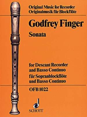Finger, G: Sonata