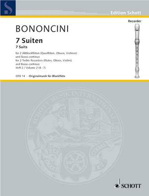 Bononcini, G B: Seven Suites Band 2 Product Image