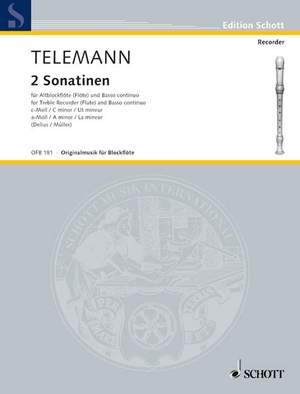 Telemann: Two Sonatinas C minor and A minor