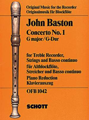 Baston, J: Concerto No. 1 in G major