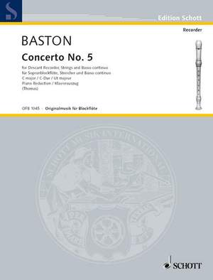 Baston, J: Concerto No. 5 C major