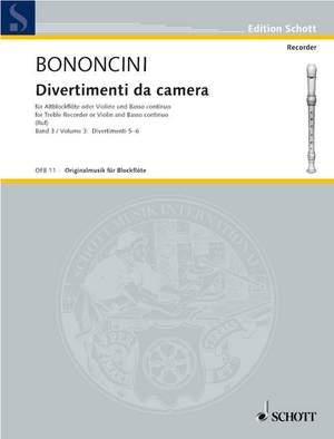 Bononcini, G B: Divertimenti da camera Band 3 Product Image