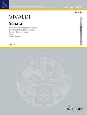 Vivaldi, A: Sonata in F major RV 52