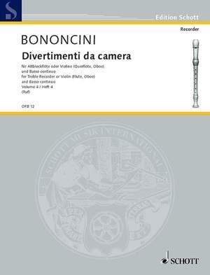 Bononcini, G B: Divertimenti da camera Band 4