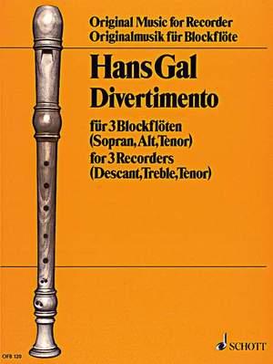 Gál, H: Divertimento op. 98