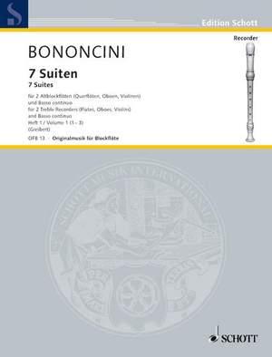 Bononcini, G B: Seven Suites Band 1 Product Image