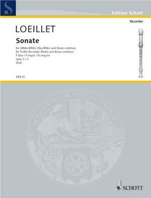 Loeillet, J B (: Six Sonatas op. 3