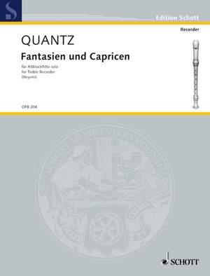 Quantz, J J: Fantasias and Caprices