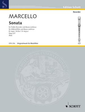 Marcello, B: Sonata Bb major op. 2/7