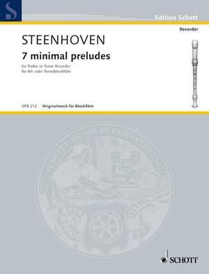 Steenhoven, K v: 7 minimal preludes