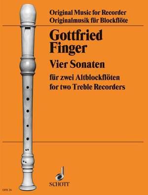 Finger, G: 4 Sonatas aus op. 2